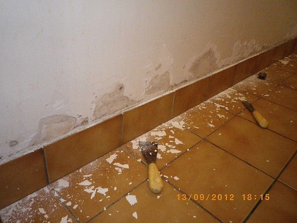 Murs de salle de bain humide for Refection murs salle de bain